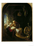 The Bible Lesson, or Anne and Tobias Giclee Print by Gerrit or Gerard Dou