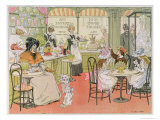 The Tea Shop, from The Book of Shops, 1899 Impressão giclée por Francis Donkin Bedford