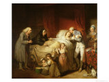 The Last Moments of the Beloved Wife, 1784 Giclee Print by Pierre Alexandre Wille
