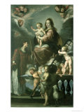Madonna and Child with the Infant St. John the Baptist and St. Lawrence and Angels, 1629 Giclee Print by Bernardo Strozzi
