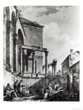 The Temple of Jupiter in the Palace of Diocletian Giclee Print by Robert Adam