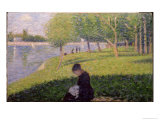 Seamstress, Grande Jatte, A Sunday Afternoon on the Island of La Grande Jatte, c.1884-6 Giclee Print by Georges Seurat