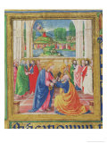 Christ Giving the Keys to St. Peter, from a Psalter Written by Don Appiano, Florence, 1514-15 Giclee Print by Or Di Giovanni Monte Del Fora