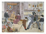 The Sports Shop, from The Book of Shops, 1899 Impressão giclée por Francis Donkin Bedford