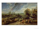 The Return of the Farm Workers from the Fields Giclee Print by Peter Paul Rubens