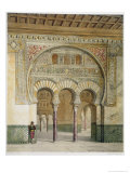 The Gallery of the Court of Lions at the Alhambra, Granada, 1853 Giclee Print by Leon Auguste Asselineau
