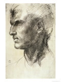 Study of a Male Head Lmina gicle por Andrea del Sarto