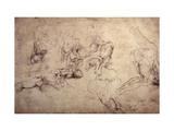 W.61V Male Figure Studies Giclee Print by  Michelangelo Buonarroti