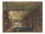 Interior of Library of Christ Church, Illustration from the History of Oxford, Engraved Stadler Giclee Print by Frederick Mackenzie