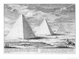 Pyramids of Egypt, Plate 4, Entwurf Einer Historischen Architektur, Engraved by J.A. Delsenbach Giclee Print by Johann Bernhard Fischer Von Erlach