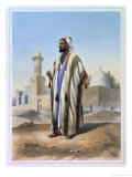 Fellah Dressed in the Haba, Illustration from The Valley of the Nile, Engraved by Charles Bour Giclee Print by Achille-Constant-Théodore-Émile Prisse d'Avennes