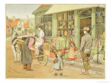 The Ironmongers, from The Book of Shops, 1899 Giclee Print by Francis Donkin Bedford