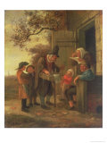 Pedlar Selling Spectacles Outside a Cottage, c.1650-53 Giclee Print by Jan Havicksz. Steen