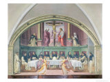 The Supper of St. Dominic, Lunette Giclee Print by Giovanni Antonio Sogliani