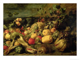 Still Life of Fruits and Vegetables Giclee Print by Frans Snyders Or Snijders