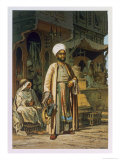 The Barber, from Souvenir of Cairo, c.1862 Giclee Print by Amadeo Preziosi