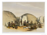 Zulu Kraal at Umlazi with Huts and Screens, Plate 21 from The Kafirs Illustrated, 1849 Giclee Print by George French Angas