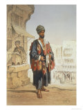 The Slipper Seller, from Souvenir of Cairo, 1862 Giclee Print by Amadeo Preziosi