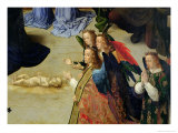 The Portinari Altarpiece, Detail of the Four Angels and the Infant, c.1475 Giclee Print by Hugo van der Goes
