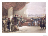 Viceroy of Egypt at His Palace at Alexandria, May 12th 1839, from Egypt and Nubia, Vol.3 Giclee Print by David Roberts