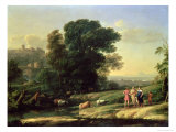 Landscape with Cephalus and Procris Reunited by Diana, 1645 Giclee Print by Claude Lorrain