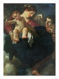 Madonna and Child with a Swallow Lámina giclée por Guercino