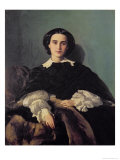 Portrait of the Contessa G. Tempestini Giclee Print by Antonio Puccinelli