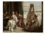 Alexander and Campaspe at the House of the Painter Apelles Giclee Print by Giandomenico Tiepolo
