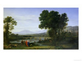 Landscape with Jacob and Laban and Laban's Daughters, 1654 Giclee Print by Claude Lorrain
