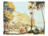View of the Coast of Brazil Opposite the Island of Santa Catarina, c.1825 Giclee Print by Ludwig Choris