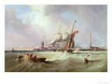 Entrance to Sunderland Harbour, 1864 Giclee Print by John Wilson Carmichael
