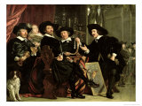 The Officials of the Company of Bowyers of St. Sebastian at Amsterdam, 1653 Giclee Print by Bartolomeus Van Der Helst