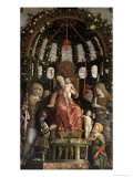 The Madonna and Child Enthroned with Six Saints and Gian-Francesco II Gonzaga, 1495 Giclee Print by Andrea Mantegna