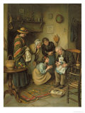 Family Worship, from the Pears Annual, 1911 Giclee Print by Joseph Clark