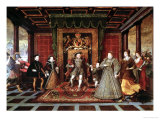 The Family of Henry VIII: an Allegory of the Tudor Succession, c.1570-75 Giclee Print by Lucas De Heere