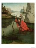 St. Christopher Carrying the Christ Child Giclee Print by Konrad Witz