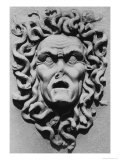 Stone Carving of a Medusa's Head, Belvoir Castle, Leicestershire Giclee Print by Simon Marsden