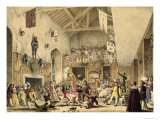 Twelfth Night Revels in the Great Hall, Haddon Hall, Architecture of the Middle Ages, 1838 Giclee Print by Joseph Nash