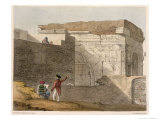 Triumphal Arch, Tripoli, Plate 4 A Narrative of Travels in Northern Africa, Engraved by G. Harley Giclee Print by Captain George Francis Lyon