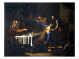 The Murder of Amnon by His Brother Absalom Giclee Print by Bernardo Cavallino