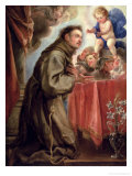 St. Anthony of Padua Giclee Print by Don Juan Carreno de Miranda