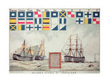 Nelson's Signal at Trafalgar, 1805, 'The Boy's Own Paper' Commemorate Hms Victory, Portsmouth, 1885 Giclee Print by Walter William May