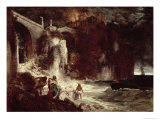 Pirate Assault on a Coastal Fort, 1872 Giclee Print by Arnold Bocklin