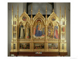 Virgin and Child Enthroned: Altarpiece, Church of San Domenico, Perugia, 1437 Giclee Print by  Fra Angelico
