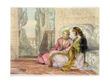 The Harem, Plate 1 from Illustrations of Constantinople, Engraved by the Artist, 1837 Giclee Print by John Frederick Lewis