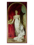 Crown Princess Stephanie of Belgium, Consort to Crown Prince Rudolf of Austria Giclee Print by Hans Makart