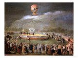 Balloon Ascension in the Gardens of Aranjuez, c.1783 Giclee Print by Antonio Carnicero