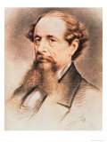 Portrait of Charles Dickens, 1869 Giclee Print by E. Goodwyn Lewis