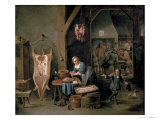 Sausage-Making, 1651 Giclee Print by David Teniers the Younger