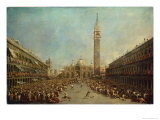 The Distribution of the Denarii to the Poor in San Marco, Venice Giclee Print by Francesco Guardi